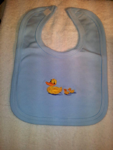 PERSONALISED DUCKS BIB - personalise with a name of your choice...